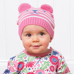 Kite Teddy Knit Hat Rose