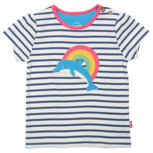 Load image into Gallery viewer, Kite Dolphin rainbow t-shirt