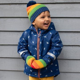 Kite Rainbow Hat and Mitts Set