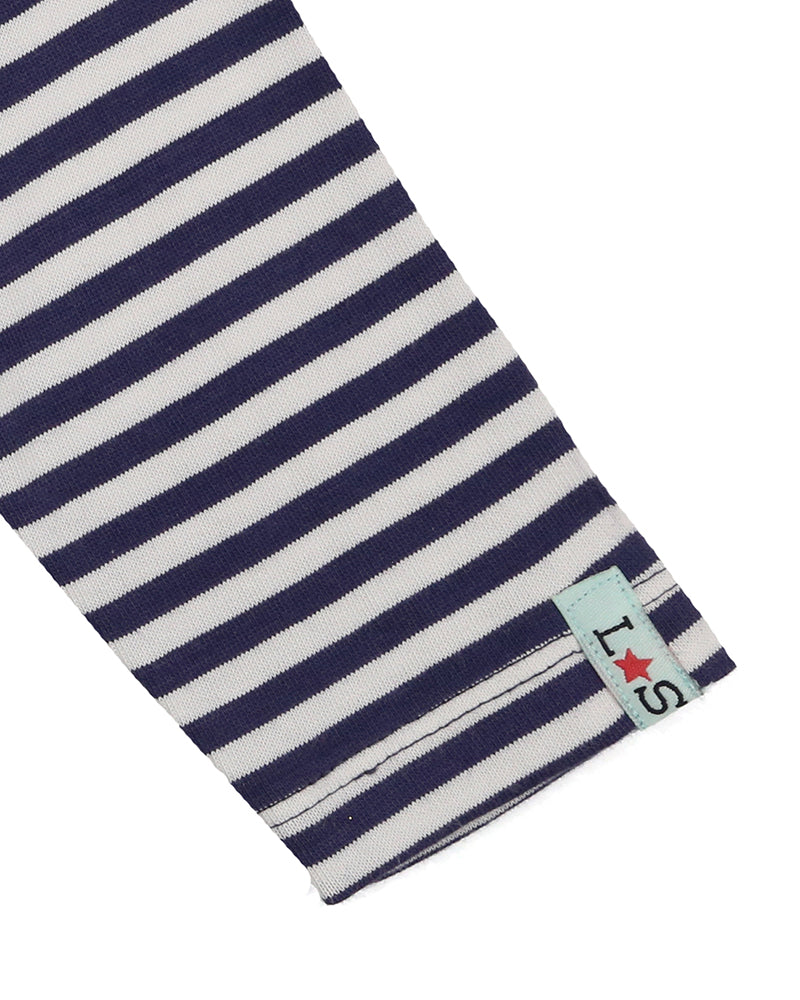 Load image into Gallery viewer, Lilly and Sid Navy Stripe Layering Top