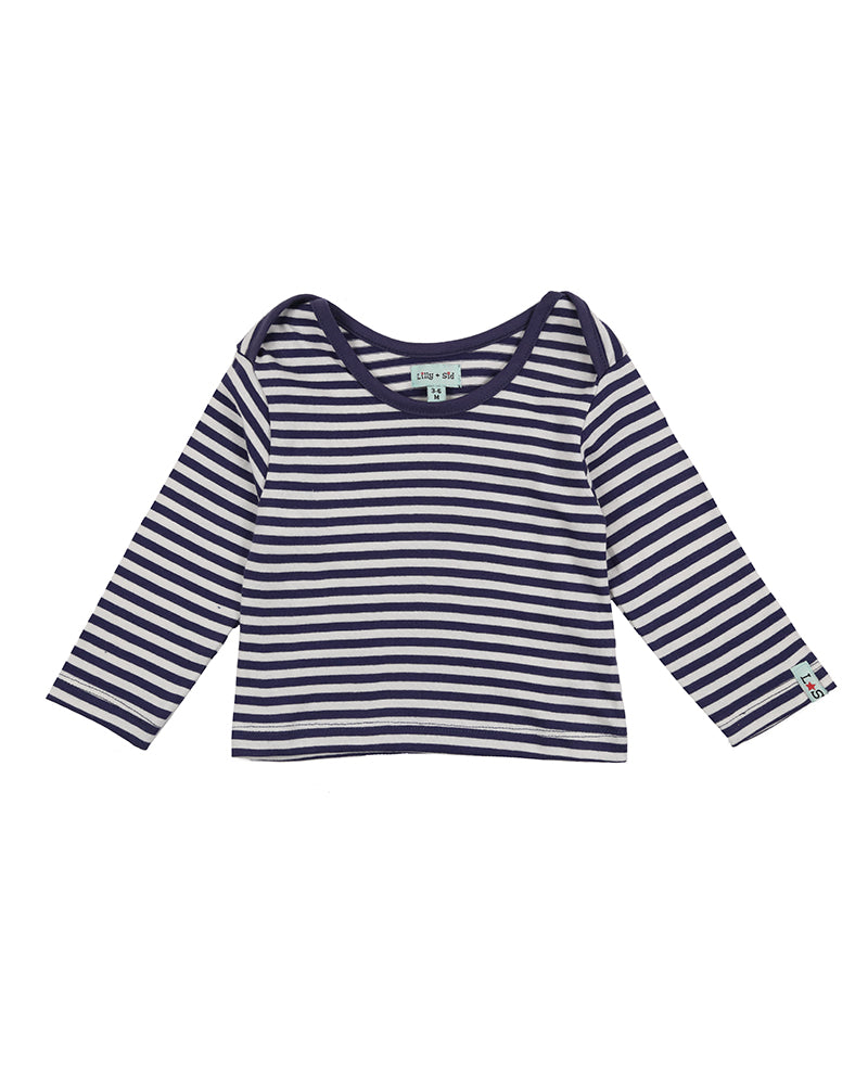 Lilly and Sid Navy Stripe Layering Top