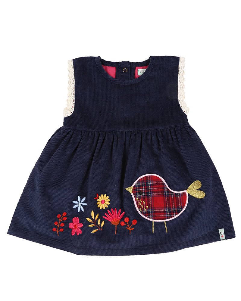 Lilly and Sid Applique Hem Cord Dress