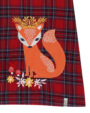 Load image into Gallery viewer, Lilly and Sid Fox Appliqué Check Pini