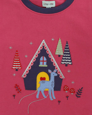 Load image into Gallery viewer, Lilly and Sid Sparkle Deer Appliqué Top
