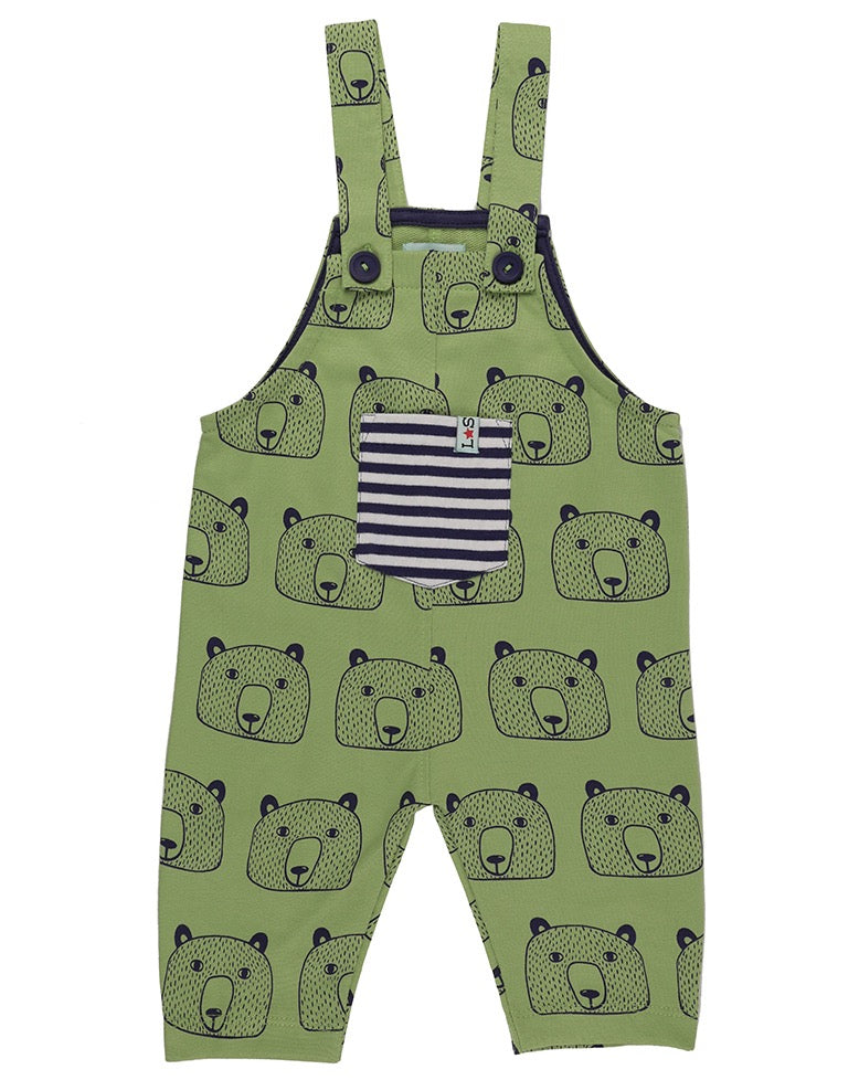Lilly and Sid Bear Head Dungarees