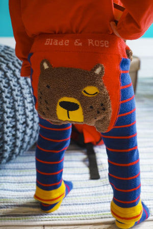 Load image into Gallery viewer, Blade and Rose Bear Leggings - Small and Awesome