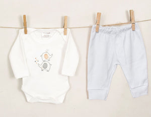 Load image into Gallery viewer, Chamomile Baby Elephant Trouser set- Grey