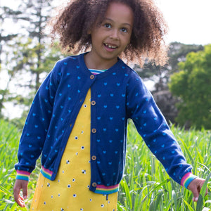 Load image into Gallery viewer, Kite Heart cardi Navy - Small and Awesome