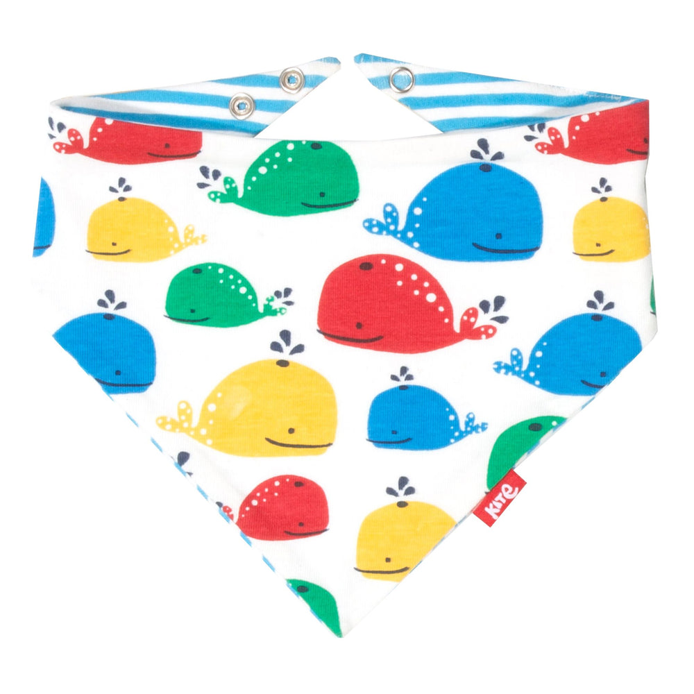 Kite Rainbow whale bib - Small and Awesome