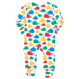 Kite Rainbow whale sleepsuit - Small and Awesome