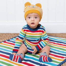 Kite Soft Stripe Knit Blanket
