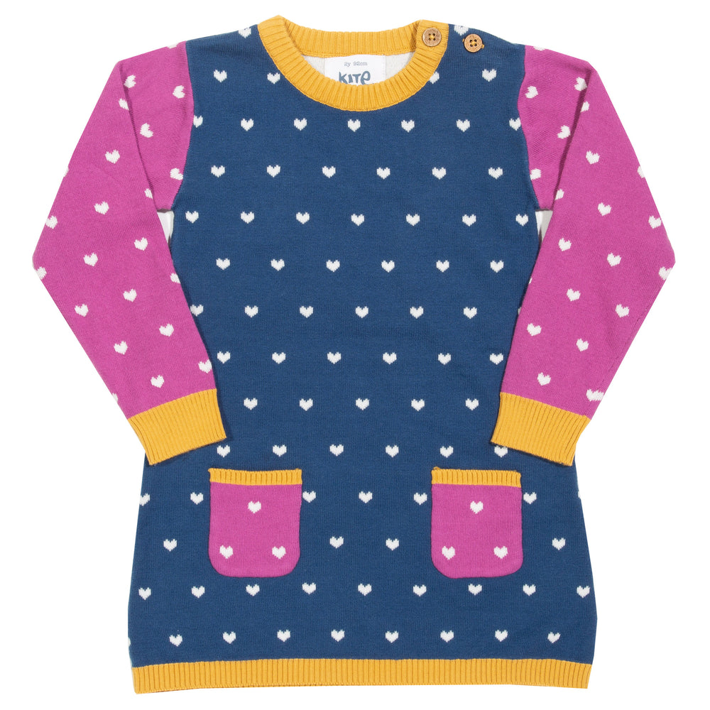Load image into Gallery viewer, Kite Little Heart Knit Dress