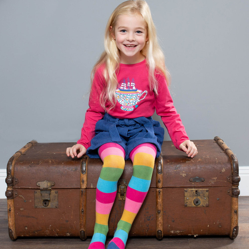 Load image into Gallery viewer, Kite Rainbow Tights