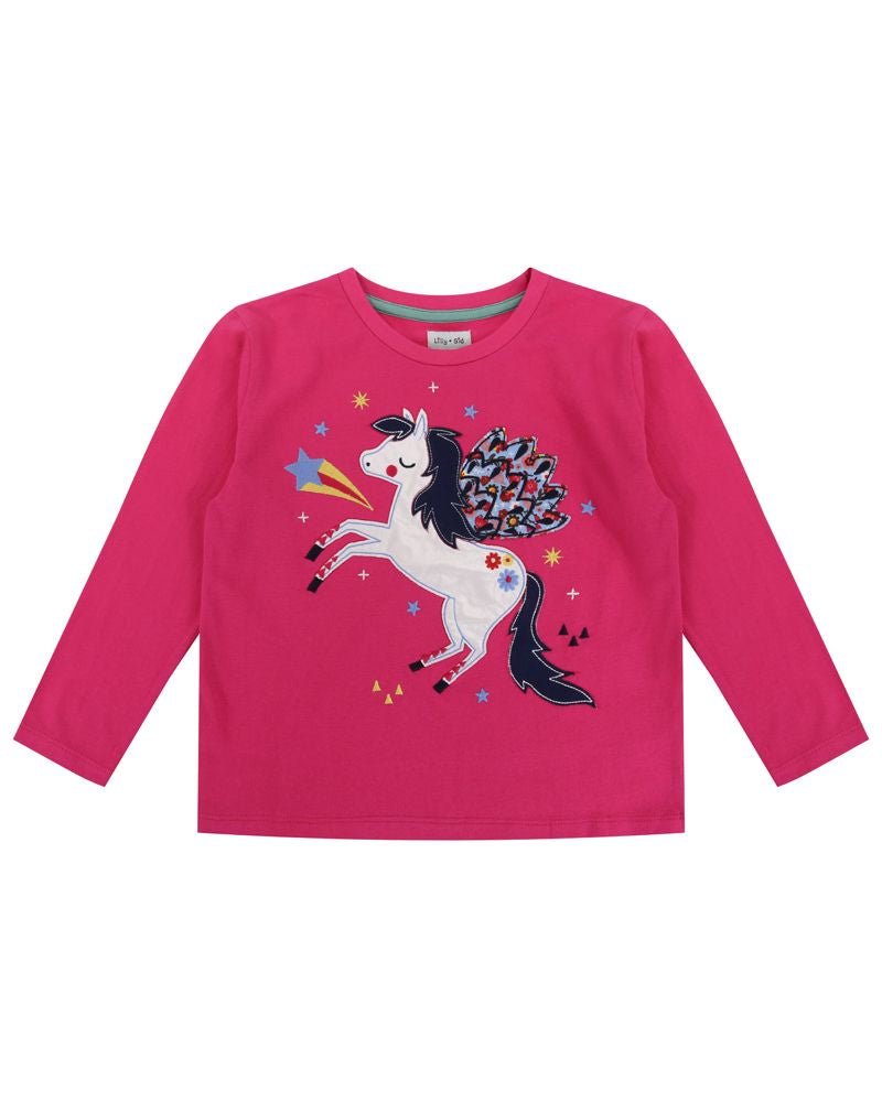 Lilly and Sid Applique Pegasus Top - Small and Awesome
