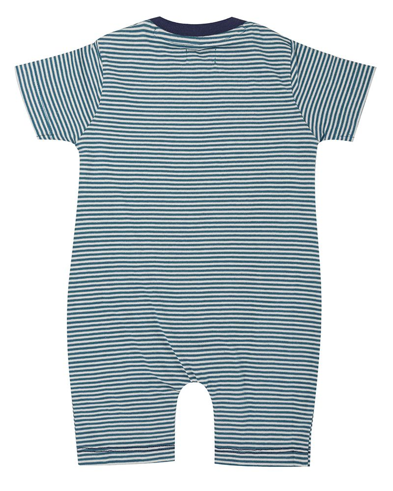 Load image into Gallery viewer, Lilly and Sid Applique Stripe Romper- Tiger - Small and Awesome