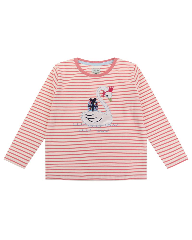 Lilly and Sid Applique Swan Top - Small and Awesome