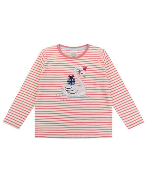 Load image into Gallery viewer, Lilly and Sid Applique Swan Top - Small and Awesome