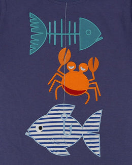 Lilly and Sid Applique T- Good Catch! - Small and Awesome