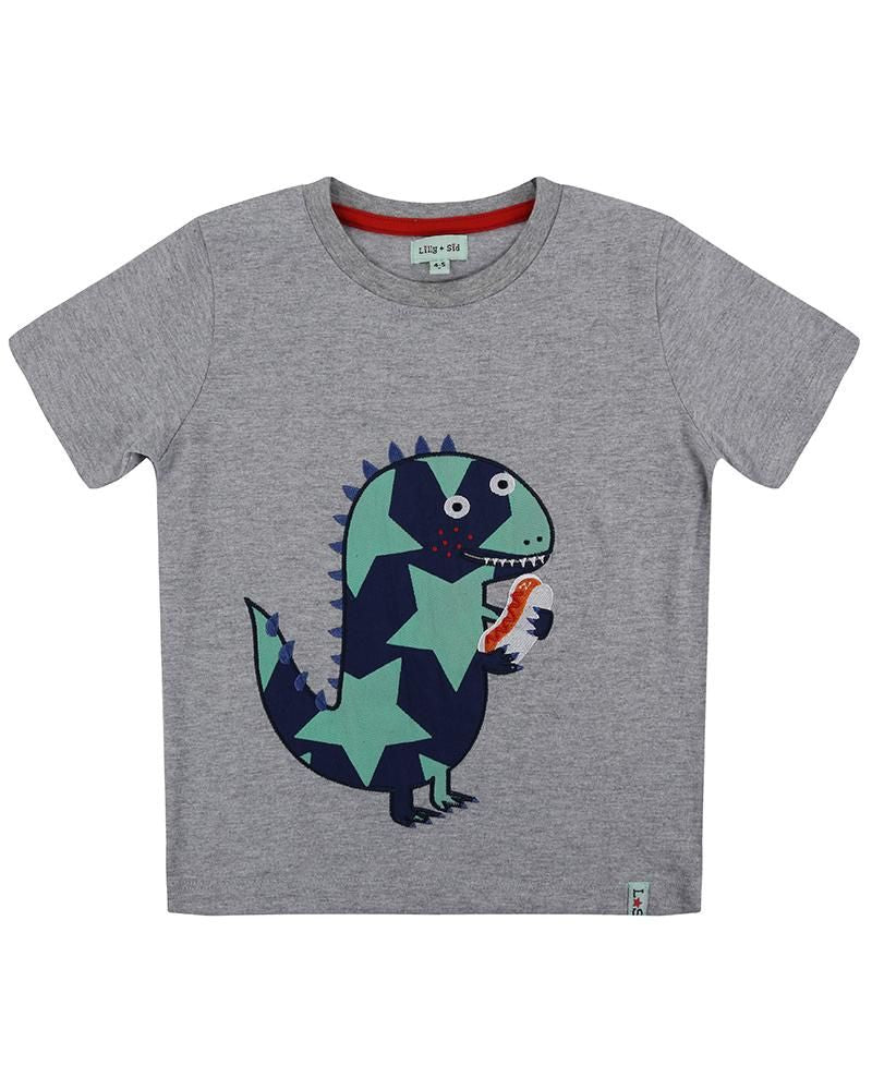 Lilly and Sid Applique T - Star Dino - Small and Awesome