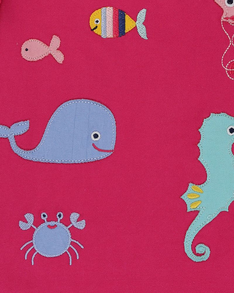 Load image into Gallery viewer, Lilly and Sid Applique Top- Sea Pals - Small and Awesome
