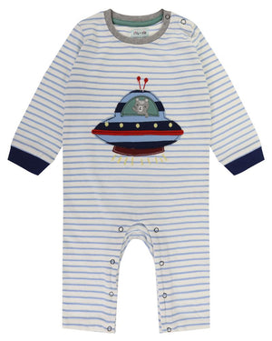 Load image into Gallery viewer, Lilly and Sid Applique UFO Playsuit - Small and Awesome