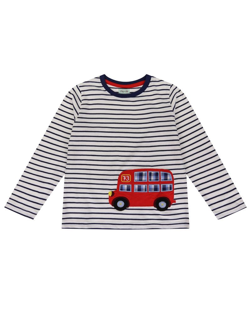 Lilly and Sid Bus Applique Top - Small and Awesome