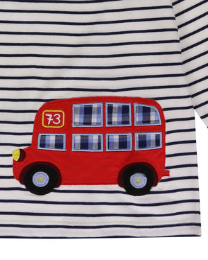 Load image into Gallery viewer, Lilly and Sid Bus Applique Top - Small and Awesome
