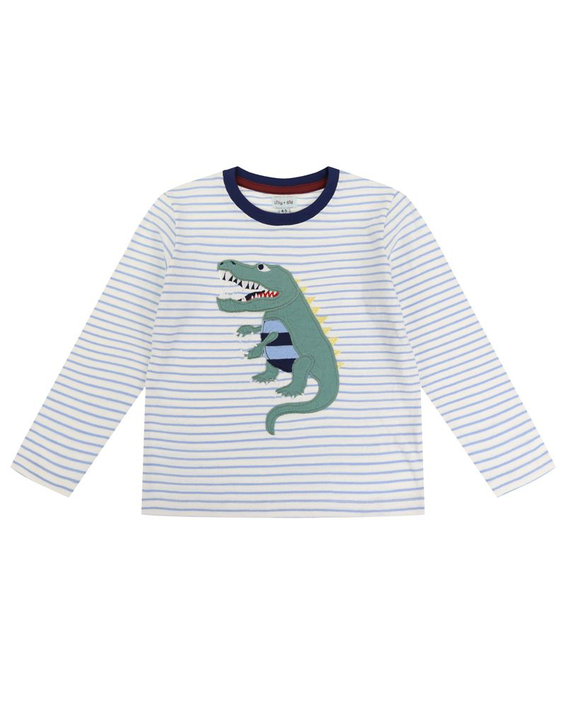 Lilly and Sid Dino Applique Top - Small and Awesome