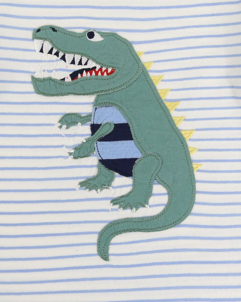 Load image into Gallery viewer, Lilly and Sid Dino Applique Top - Small and Awesome