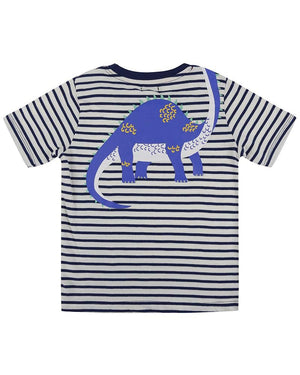 Load image into Gallery viewer, Lilly and Sid Front/Back Print T - Dino - Small and Awesome