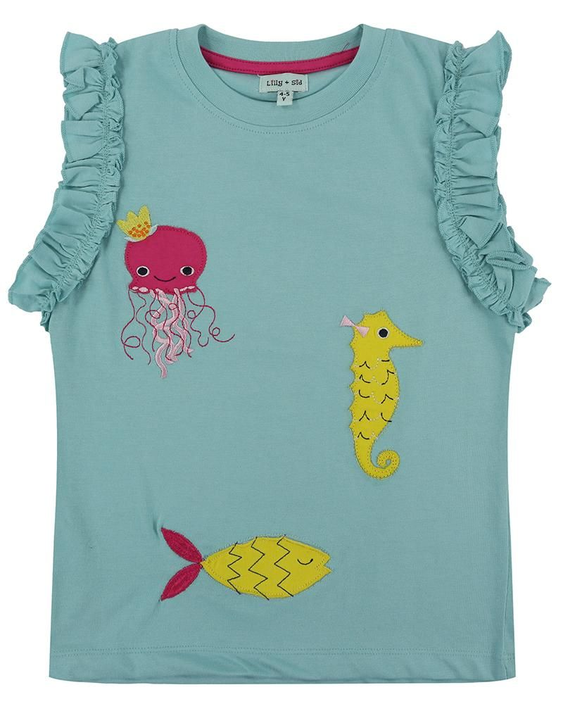 Lilly and Sid Pretty Vest Top - Sea Friends - Small and Awesome