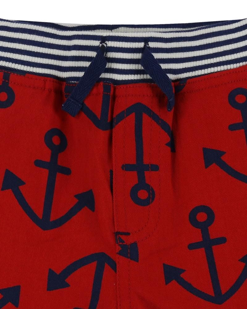 Load image into Gallery viewer, Lilly and Sid Printed Board Shorts - Anchors - Small and Awesome