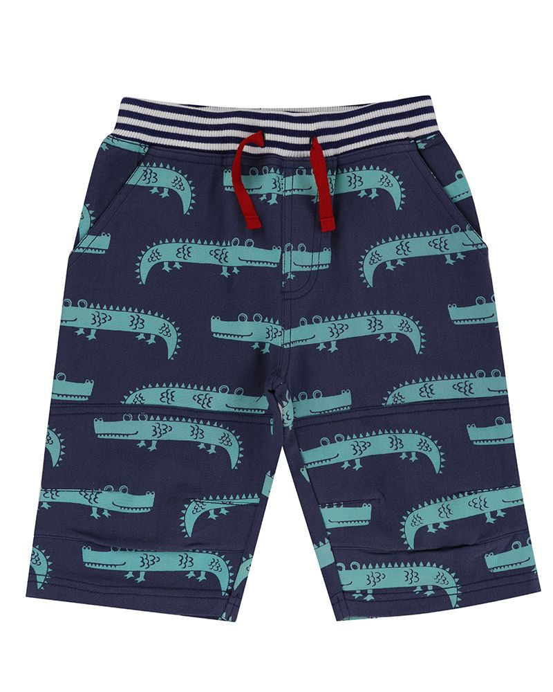 Lilly and Sid Printed Board Shorts- Crazy Croc - Small and Awesome
