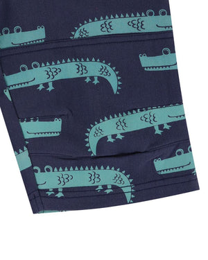 Load image into Gallery viewer, Lilly and Sid Printed Board Shorts- Crazy Croc - Small and Awesome