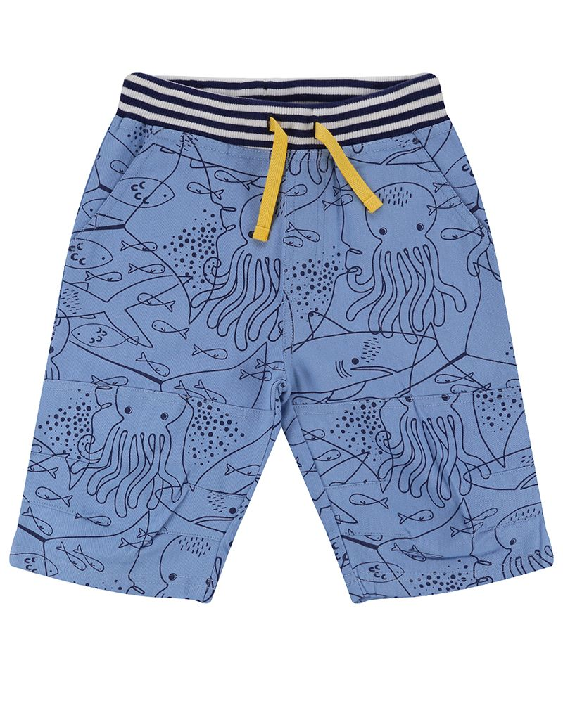 Lilly and Sid Printed Board Shorts- Fish Mash - Small and Awesome