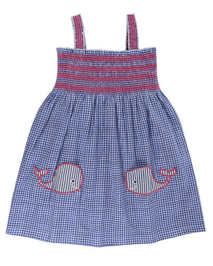 Load image into Gallery viewer, Lilly and Sid Reversible Sundress- Whale Pockets - Small and Awesome