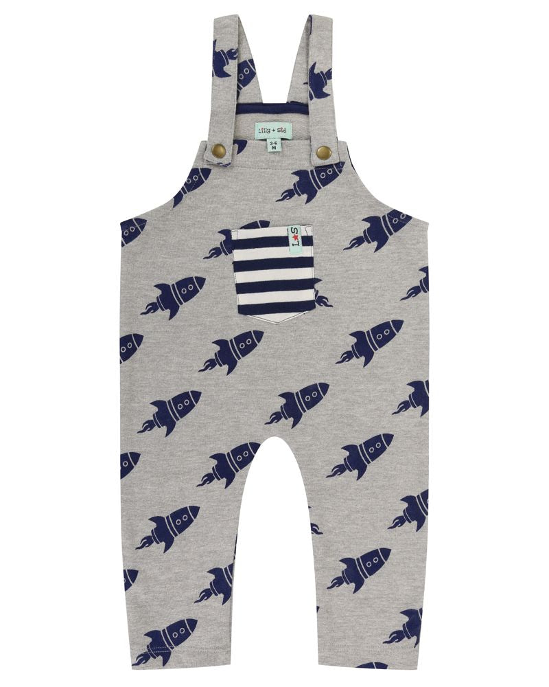 Lilly and Sid Rocket Dungarees - Small and Awesome