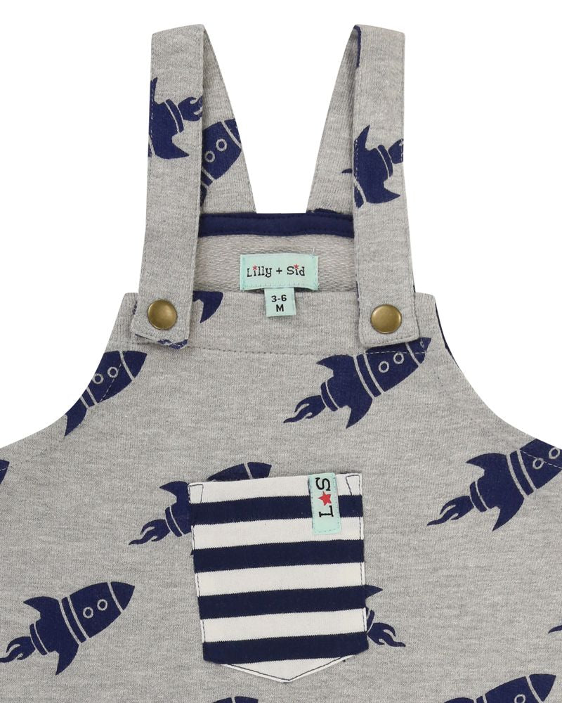Load image into Gallery viewer, Lilly and Sid Rocket Dungarees - Small and Awesome