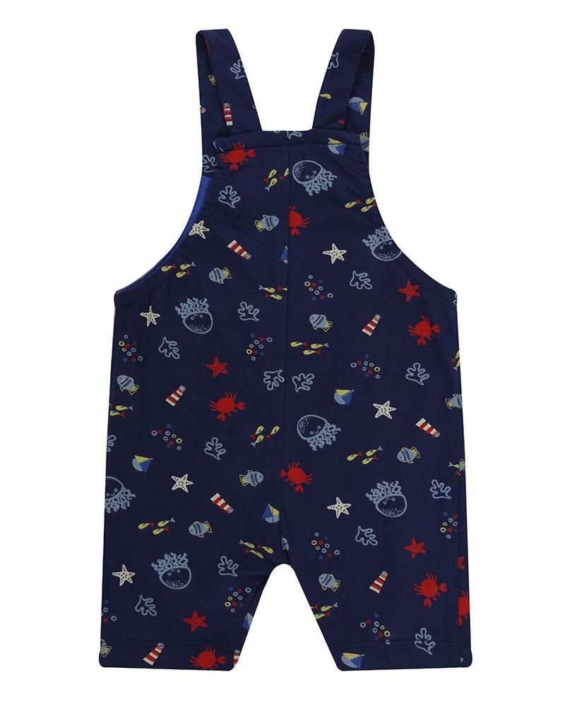 Load image into Gallery viewer, Lilly and Sid Short Dungarees - Under the sea - Small and Awesome