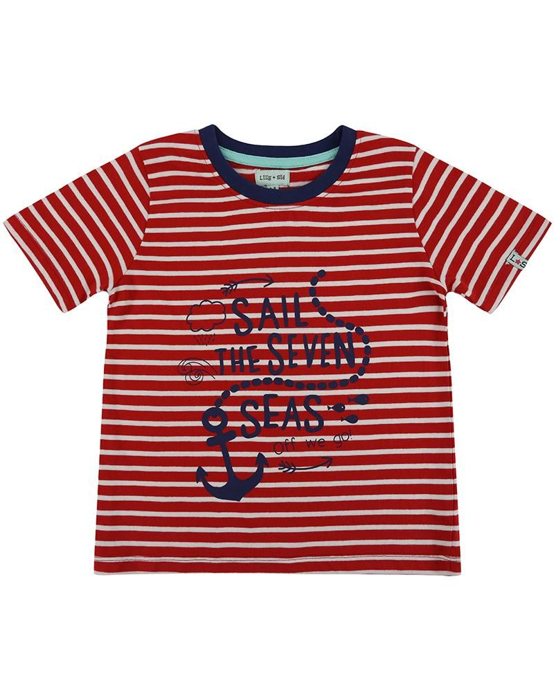 Lilly and Sid Stripe Print T - Nautical - Small and Awesome