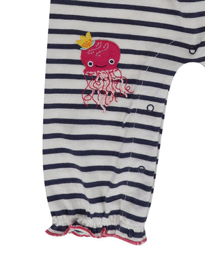 Load image into Gallery viewer, Lilly and Sid Stripe Sea Friends Dungarees