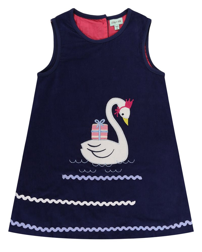 Lilly and Sid Swan Applique Cord Pini - Small and Awesome