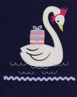 Load image into Gallery viewer, Lilly and Sid Swan Applique Cord Pini - Small and Awesome