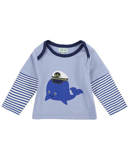 Lilly and Sid Whale Applique Trouser Set - Reversible - Small and Awesome
