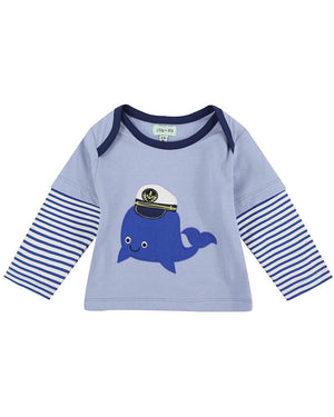 Load image into Gallery viewer, Lilly and Sid Whale Applique Trouser Set - Reversible - Small and Awesome