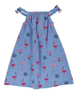 Lilly and Sid Woven Sundress- Flamingo - Small and Awesome