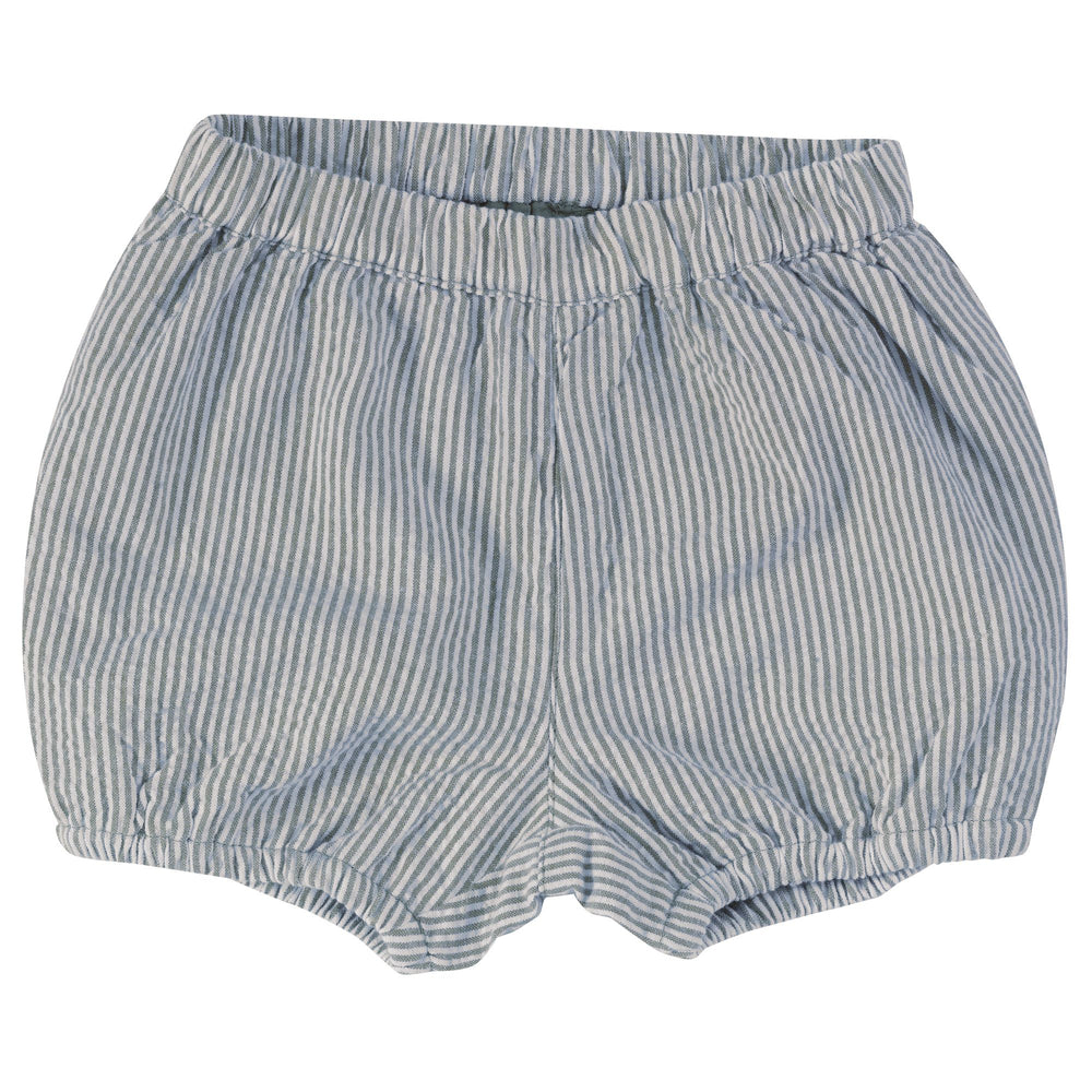 Pigeon Organics Bloomers- Seersucker (Turquoise) - Small and Awesome