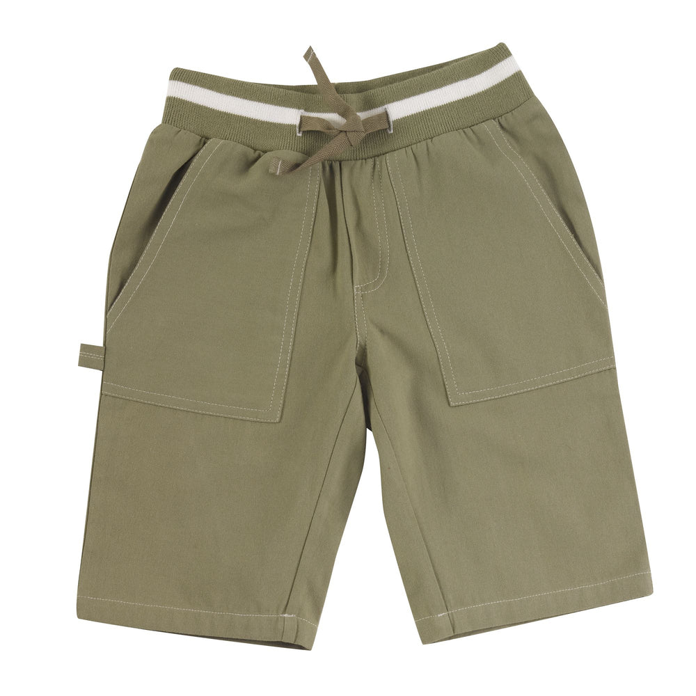 Pigeon Organics Painter Shorts- Olive - Small and Awesome