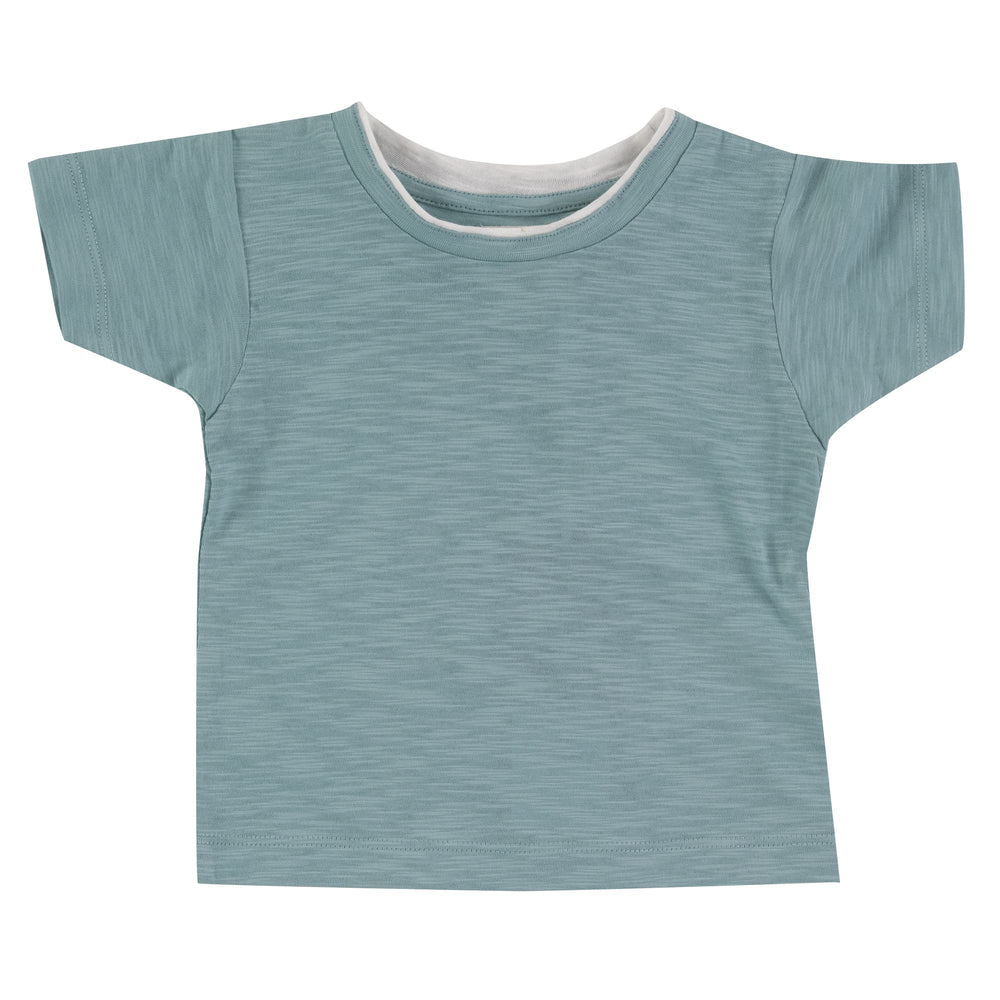 Pigeon Organics Short Sleeve T-Shirt (slub)- Turquoise - Small and Awesome