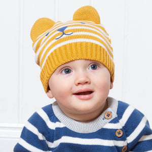 Load image into Gallery viewer, Kite Teddy Knit Hat Mustard